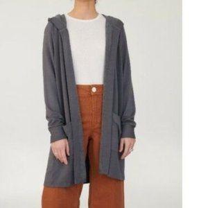 Stateside Hooded Cozy Soft Open Pocket Cardigan